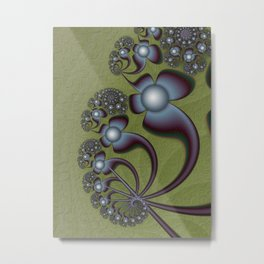 The Geometry of Flowers Metal Print
