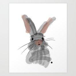 Cute rabbit Art Print
