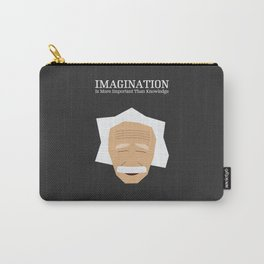 Lab No. 4 - Albert Einstein Inspirational Quotes Typography Poster Carry-All Pouch