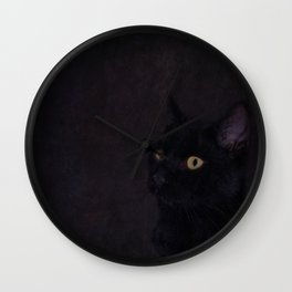 Black Cat - Prince Of Darkness Wall Clock