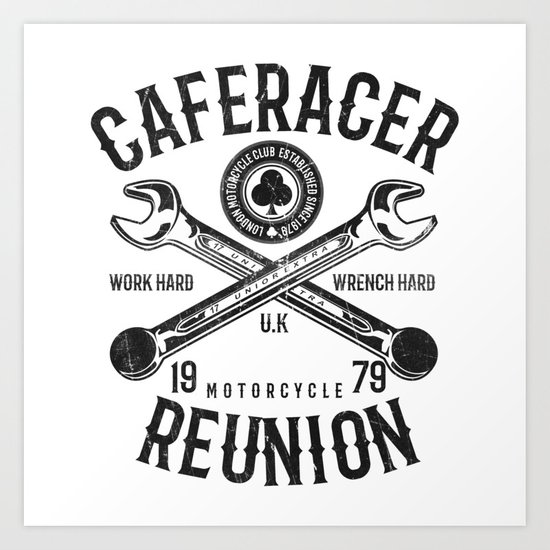 Cafe Racer Reunion Vintage Tools Poster Art Print