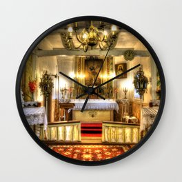 Zosna Old Countryside Church Latvia Wall Clock