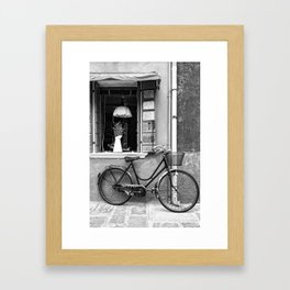 Pedals Parked Framed Art Print