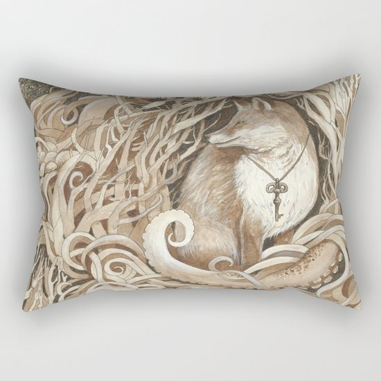 The Fox and the Sea Rectangular Pillow
