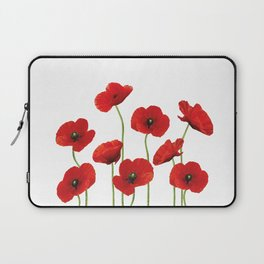 Poppies Field white background Laptop Sleeve