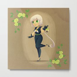 Retro Sailor Star Healer Metal Print
