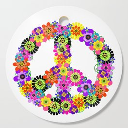 Peace Sign of Flowers Cutting Board