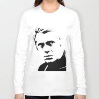 steve mcqueen Long Sleeve T-shirts featuring Steve-O by Oscar Sierra