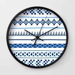 Traditional Influence Pattern I Wall Clock