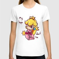 princess peach T-shirts featuring Princess peach by HeliPeach