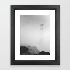 Man vs. Fog Framed Art Print