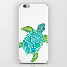 Watercolor Sea Turtle iPhone & iPod Skin