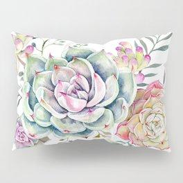 succulent watercolor 3 Pillow Sham