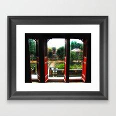 Buddhist Temple, Hue, Viet Nam Framed Art Print