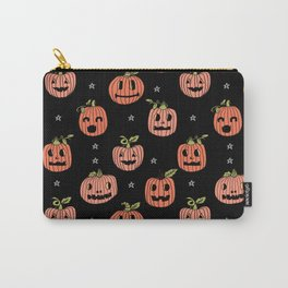 Pumpkins halloween cute jack-o'-lantern pattern fall autumn gifts Carry-All Pouch