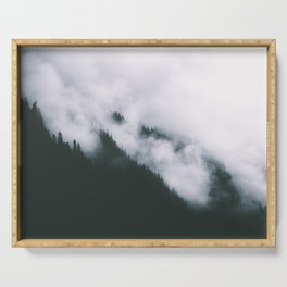 Forest Fog XIII Serving Tray