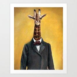 Lord Giraffe Art Print