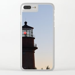 Aquinnah Lighthouse at Sunset Clear iPhone Case
