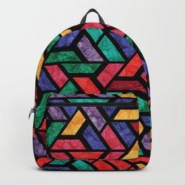 Seamless Colorful Geometric Pattern IX Backpack
