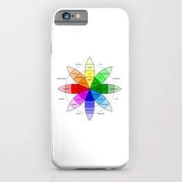 Love and Emotion Valentines Color Wheel iPhone Case