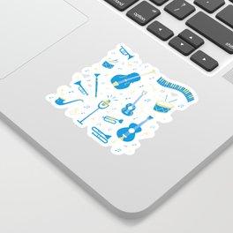 The Spirit of Jazz Pattern Sticker