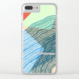 triangle, square, waves Clear iPhone Case