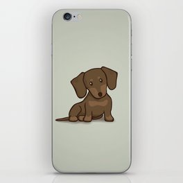 Daschund Puppy Illustration iPhone Skin