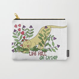 Life Full of Catnip Carry-All Pouch