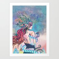 The Last Mermaid Art Print