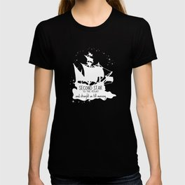 Second star to the right and straight on till morning - Peter Pan Inspired Art Print  T-shirt