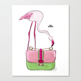 Flamingo bag Canvas Print