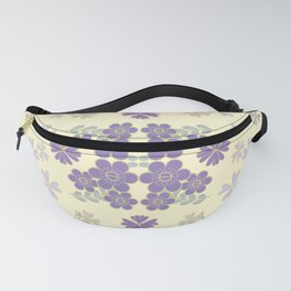 The pattern with the image of flowers gently pastel shades and botanical elements. Minimalistic desi Fanny Pack