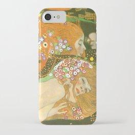 """Gustav Klimt """"Water Serpents"""" iPhone Case"""
