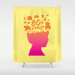 80s child Shower Curtain