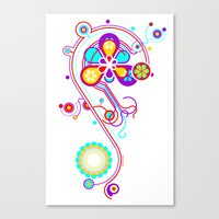 psychedelic Canvas Prints featuring Psychedelic by tuditees