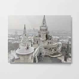 Snow in Budapest Metal Print