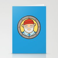 life aquatic Stationery Cards featuring The Life Aquatic by evannave