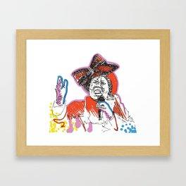 Aretha Franklin African American Singer Framed Art Print