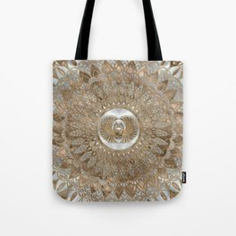Egyptian Scarab Beetle Pastel Golds Tote Bag