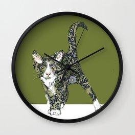 William Morris cat Wall Clock