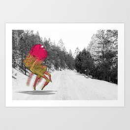 Unseen Monsters of Mount Shasta - Peawil Mousec Art Print