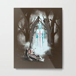 The Fallen Templar Metal Print