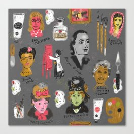 Women who painted Canvas Print