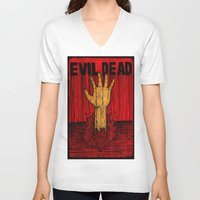 evil dead V-neck T-shirts featuring Evil Dead by Pineyard
