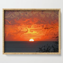 Fluid sunset Serving Tray