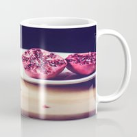 pomegranate Mugs featuring pomegranate by Mary Carroll