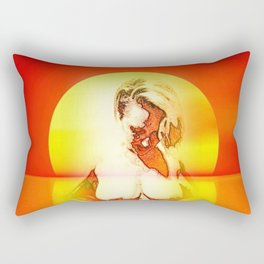 Submission At Sunset Rectangular Pillow