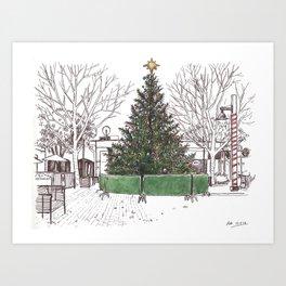 Davis Xmas Tree Art Print