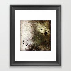 Rain & Leaves Framed Art Print