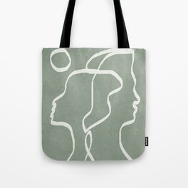 Abstract Faces Tote Bag